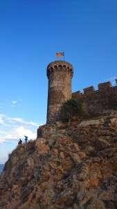 Muraille de Tossa de Mar sur la Costa Brava Espagne