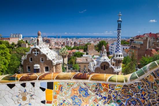 Ville de Barcelone depuis le Parc Guell
